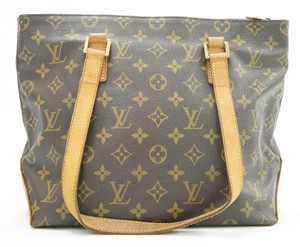 Louis Vuitton Cabas Piano Piano Shoulder Lv Tote in Brown