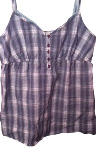 Mossimo Supply Co. Top blue plaid