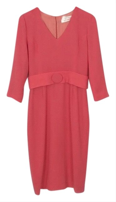 Preload https://img-static.tradesy.com/item/25394810/coral-fox-wool-crepe-in-mid-length-workoffice-dress-size-10-m-0-2-650-650.jpg