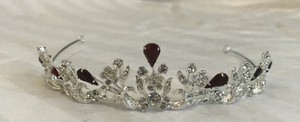 David's Bridal Silver Apple With Tiara