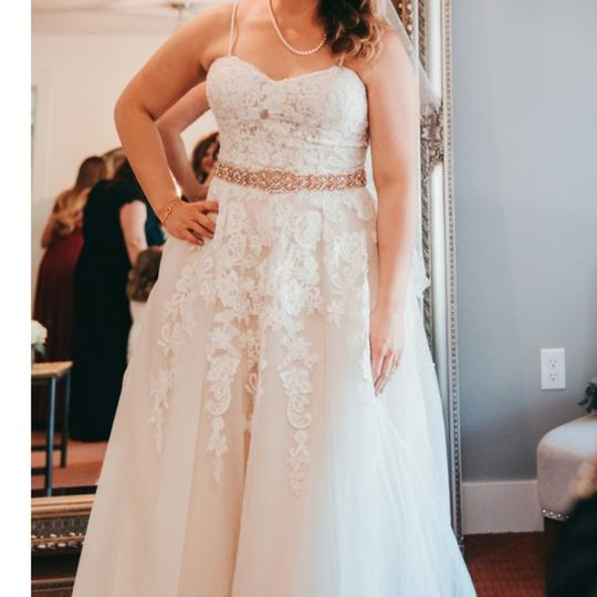 Preload https://item5.tradesy.com/images/david-s-bridal-ivory-with-champagne-undertones-and-ivory-lace-appliques-tulle-wg3861-formal-wedding--25394989-0-1.jpg?width=440&height=440