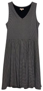 Pink Lotus short dress dark gray and white stripe on Tradesy