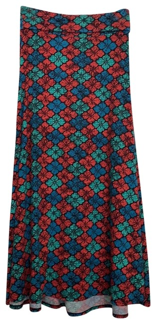 Item - Turquoise Red Pink Blue Burgundy. Skirt Size 4 (S, 27)