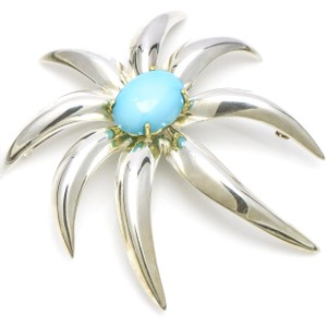 Tiffany & Co. Tiffany & Co. 18k Yellow Gold Sterling Silver Fireworks Turquoise