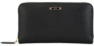 Fendi Fendi Black Leather Zip-around Wallet