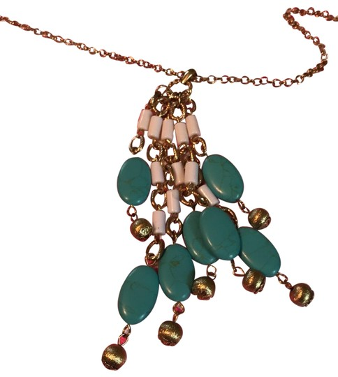 Preload https://img-static.tradesy.com/item/25395693/lilly-pulitzer-gold-turquoiseivory-metallic-necklace-0-1-540-540.jpg