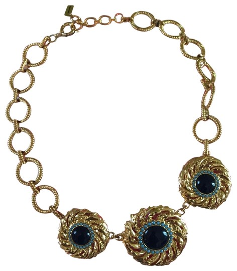 Preload https://img-static.tradesy.com/item/25395720/lilly-pulitzer-gold-navy-in-the-vias-necklace-0-1-540-540.jpg