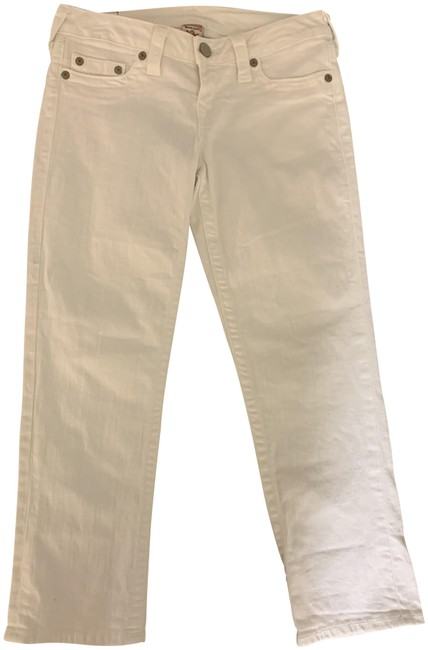 Item - White Light Wash Capri/Cropped Jeans Size 29 (6, M)