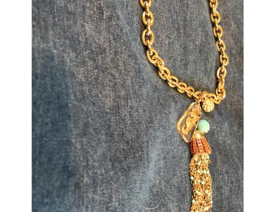 Lilly Pulitzer gold seahorse tassel Image 1