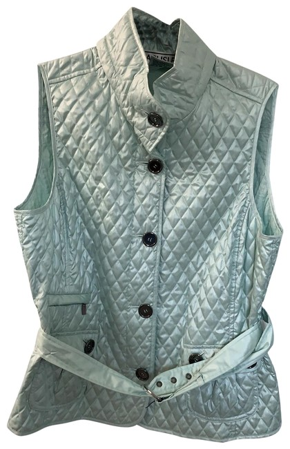 Carlisle Mint Green Quilted Vest Size 14 L Tradesy