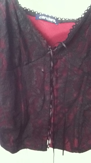 Candie's Top black/red lace