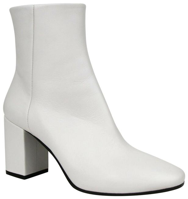 Item - White Leather Ankle with Logo On Heel 37.5/Us 7.5 490633 9000 Boots/Booties Size EU 37.5 (Approx. US 7.5) Regular (M, B)