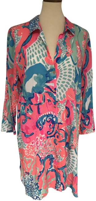 Item - Pink Multi Emerald Beach Tunic Cover-up/Sarong Size 12 (L)
