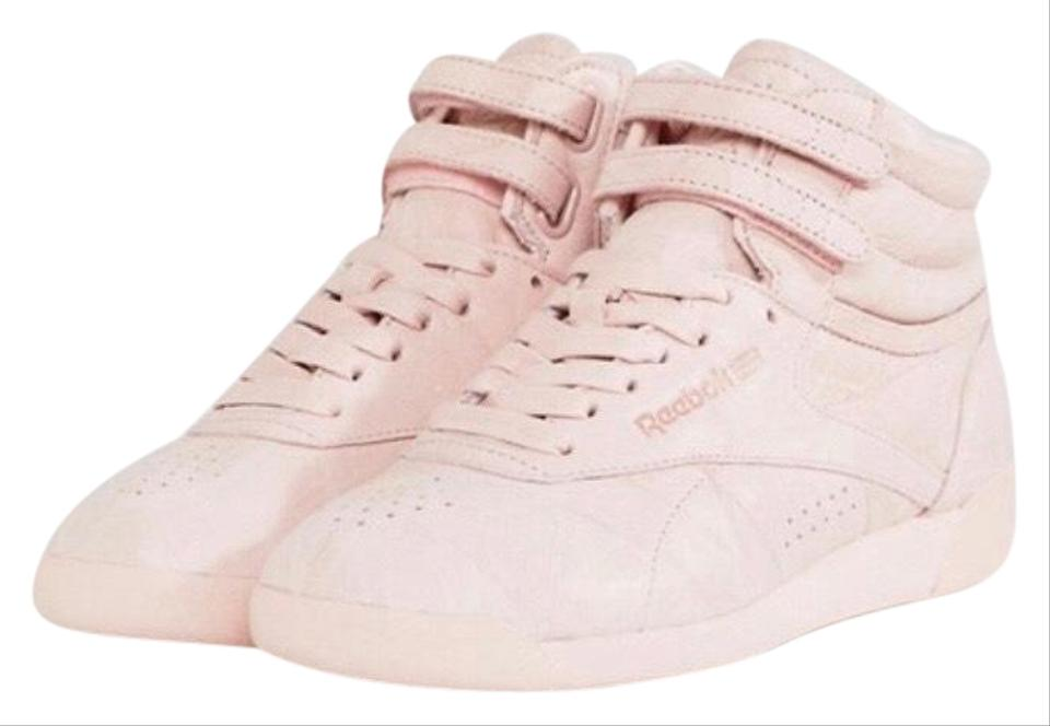 034fd41f55 Reebok Pink Classic Freestyle High Top Sneakers Size US 8.5 Regular (M, B)  62% off retail
