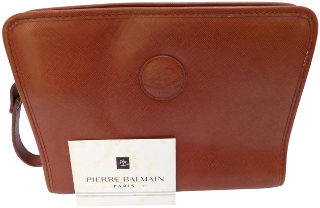 Item - Pierre Brown Leather Clutch