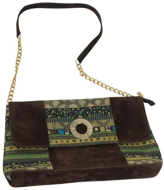 Item - Italian Brown Suede Leather Clutch