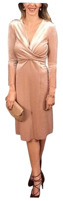 Item - Pink Velvet Crossover Mid-length Night Out Dress Size 8 (M)
