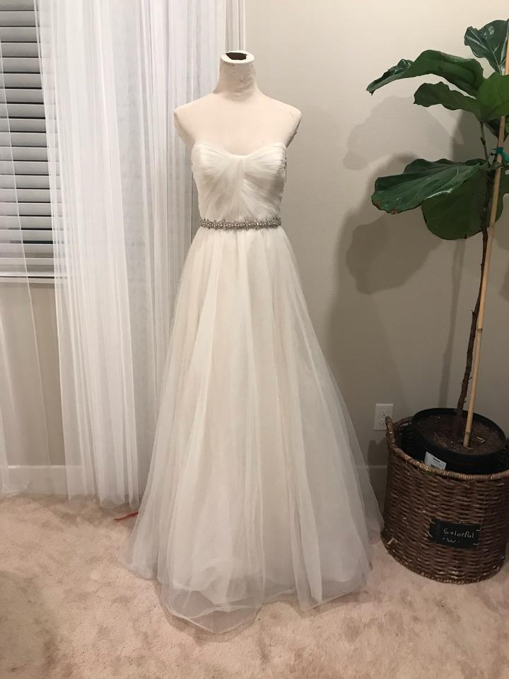e2bb84a271020 Amsale Nouvelle Tulle Embellished Formal Wedding Dress Size 8 (M ...
