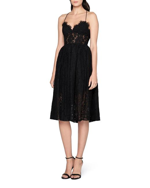 Item - Black (Nwt) Lace Sweetheart Open-back Mid-length Cocktail Dress Size 4 (S)