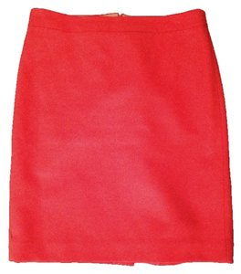 J.Crew Pencil Wool Traditional Work Clothes Skirt Orange