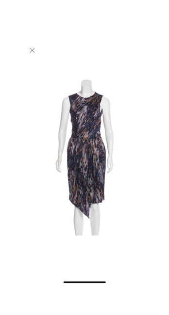 Item - Multicolor Silk Med Mid-length Cocktail Dress Size 8 (M)