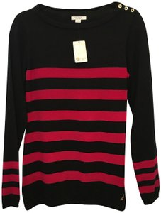 Nautica Striped Logo Buttons Size L Large New With Tags Sweater
