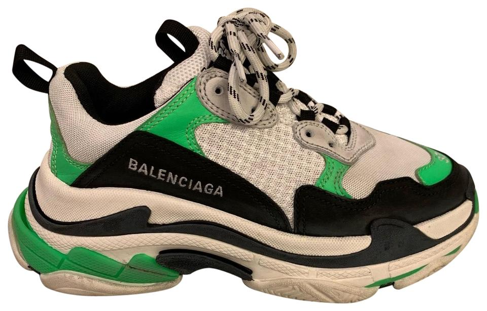 BALENCiAGA Womens Triple S Bubble leather and mesh