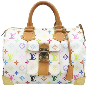 Louis Vuitton Lv Speedy Multicolor Canvas Tote in White