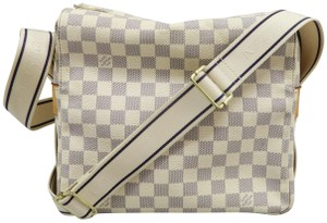 Louis Vuitton Lv Naviglio Damier Canvas Azur white Messenger Bag