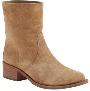 Tory Burch Suede Leather Pull On Brown Boots