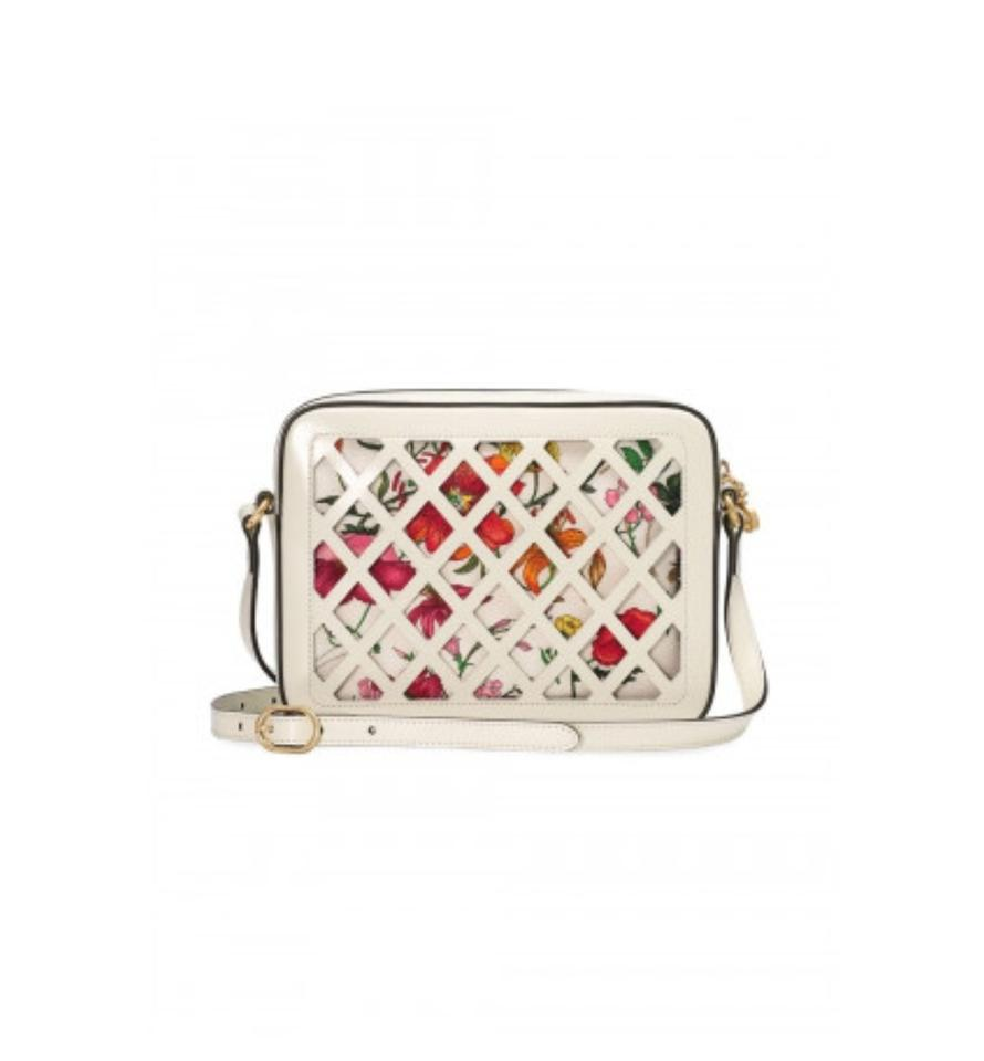 d6b87d0d5edd Gucci New Small Cutout White Leather Shoulder Bag - Tradesy