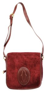 Cartier Happy Classic Crossbody Suede Shoulder Bag