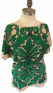 Tracy Reese Top Green and Cream