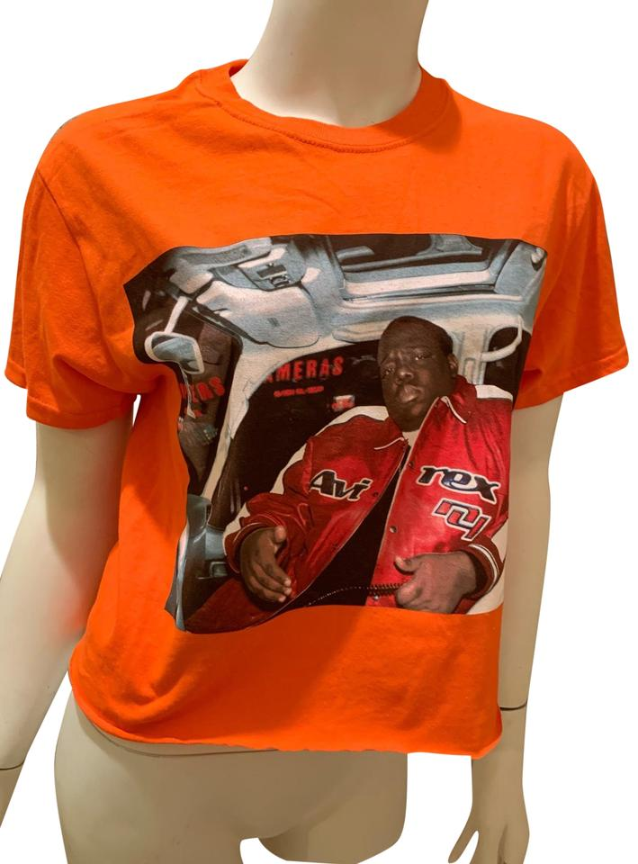 c65bf40fd Graphic Notorious B.i.g Neon Orange Tee Shirt Size 12 (L) - Tradesy