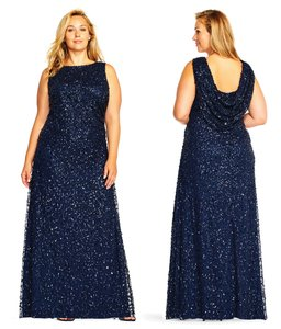 Adrianna Papell Evening Gown Wedding Sequin Sequin Gown Dress