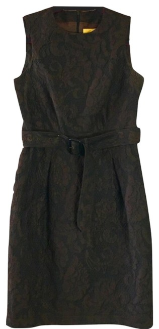 Item - Brown Talitha Mid-length Work/Office Dress Size 4 (S)