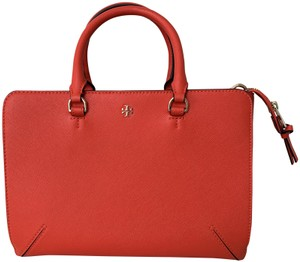 Tory Burch Robinson Timeless Satchel in Red