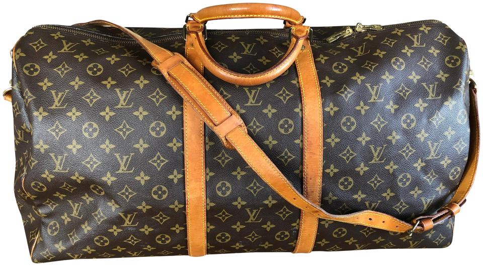 743a4c3e1a0 Louis Vuitton Keepall Bandouliere 60 Brown Monogram Canvas and Leather  Weekend/Travel Bag 59% off retail