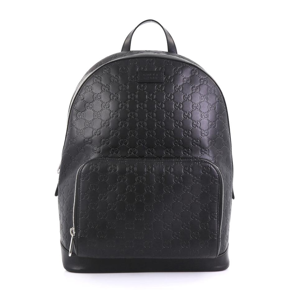 68c0866f6cdc Gucci Signature Pocket Guccissima Large Black Leather Backpack - Tradesy