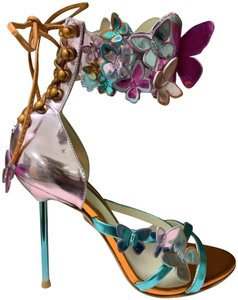 Sophia Webster Designer Summer Butterfly Party Strappy Multi Sandals