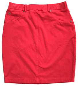 Three Dots Mini Skirt Red
