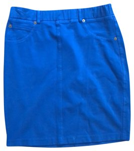 Three Dots Mini Skirt blue
