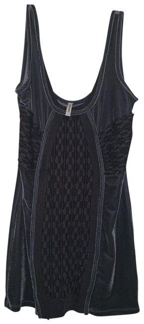 Free People Dark Grey Mini Short Night Out Dress Size 12 (L) Free People Dark Grey Mini Short Night Out Dress Size 12 (L) Image 1