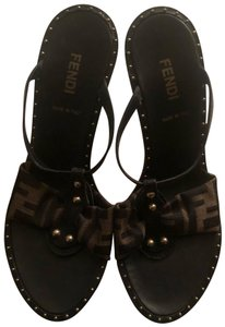 Fendi brown Wedges
