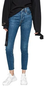 RE/DONE Denim High Rise Skinny Jeans-Dark Rinse