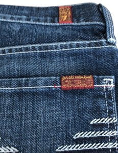7 For All Mankind Skirt dark blue with white stitching