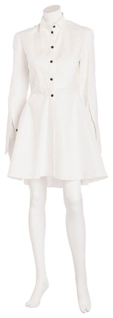 Item - White Button Up Short Cocktail Dress Size 6 (S)