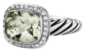 David Yurman David Yurman Noblesse Ring with Prasiolite and Diamonds