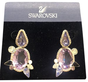5d154ff33 Purple Swarovski Earrings - Up to 90% off at Tradesy