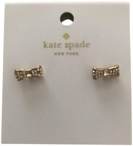 Kate Spade NWT Kate Spade New York Pave Bow Stud Earrings Gold